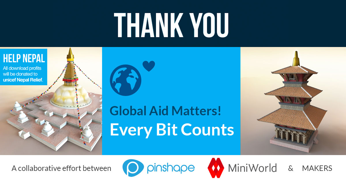 3D printing for charity with Miniworld!