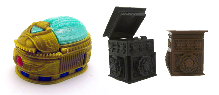 secret lockboxes 3d printed pinshape