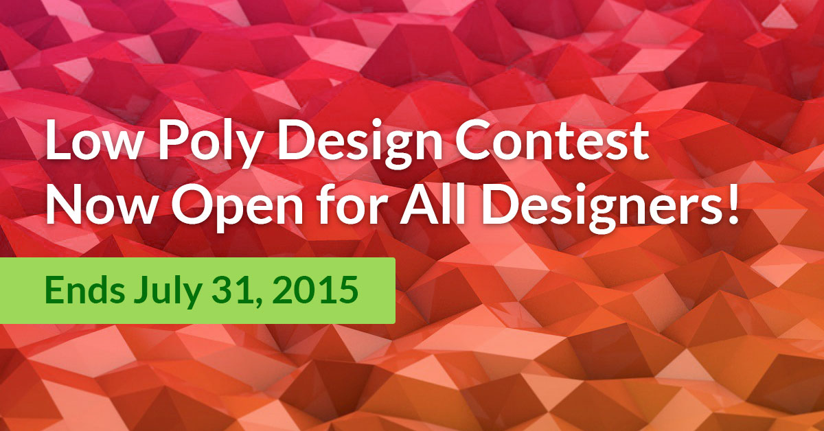 Low Poly Design Contest: Win 3D Printers!