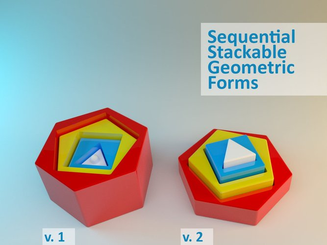 sequential stackable geometric forms pikitote pinshape