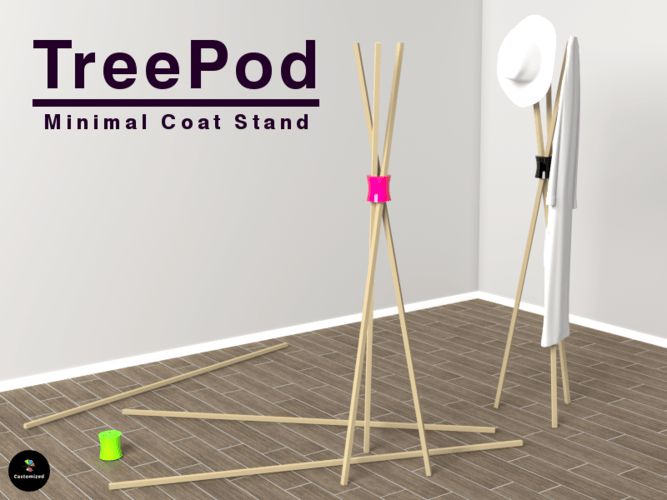 treepod coat stand castomized pinshape