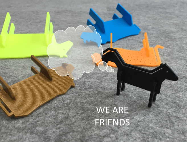 simple animals 3d printing eunny pinshape