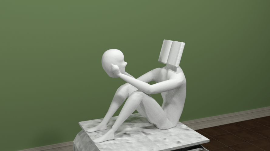 reading yourself sculpture pinshape