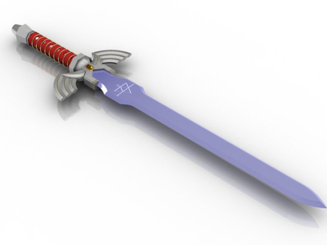 legend of zelda master sword pinshape
