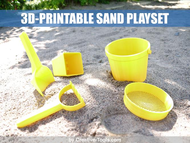 creative tools sand playset pinshape staff picks best things to 3d print