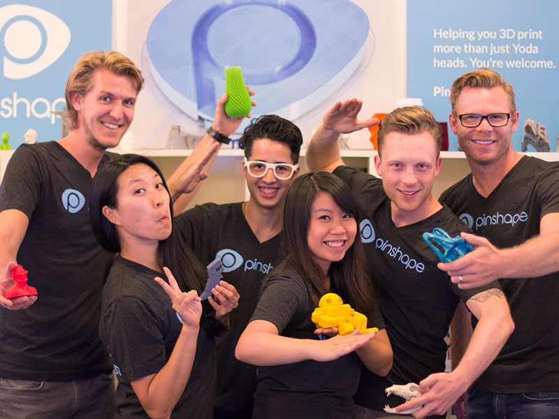 Pinshape team future of 3d printing