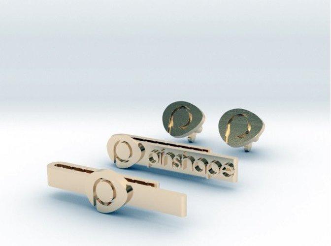 pinshape cuff links tie clip rick barboza