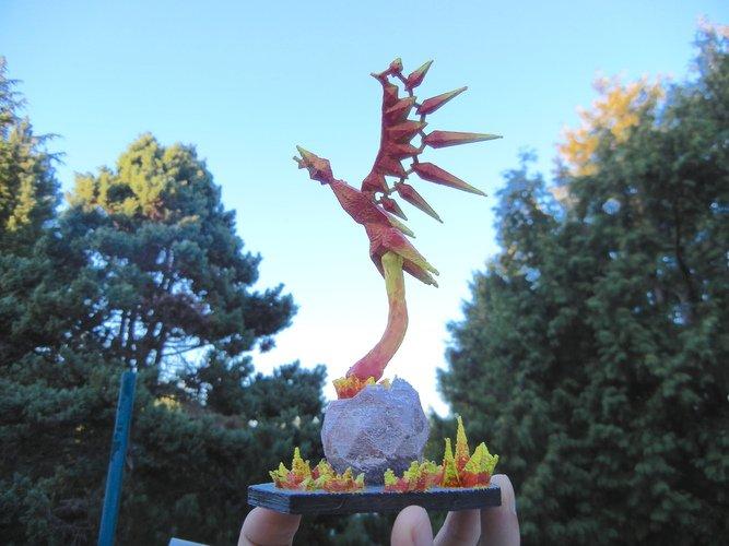 low poly phoenix
