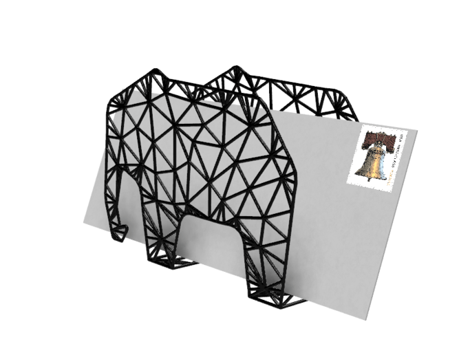 elephant envelop holder pinshape