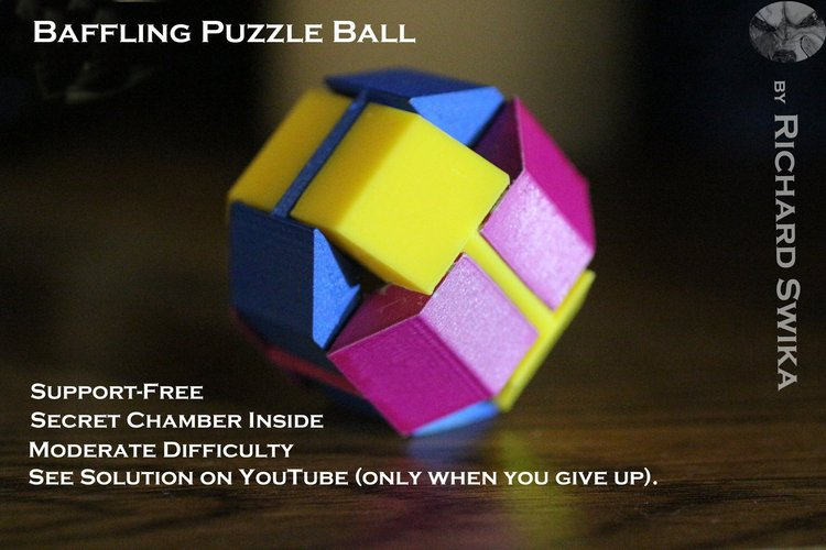 Best 3D designs pinshape baffling puzzle ball