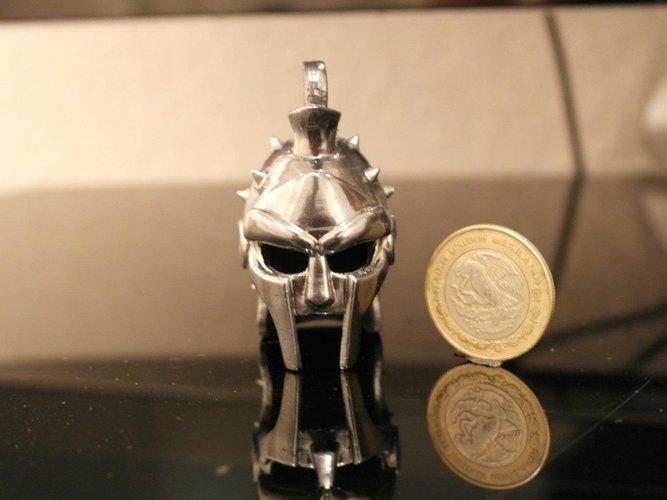 Best 3D designs pinshape helmet gladiator keychain