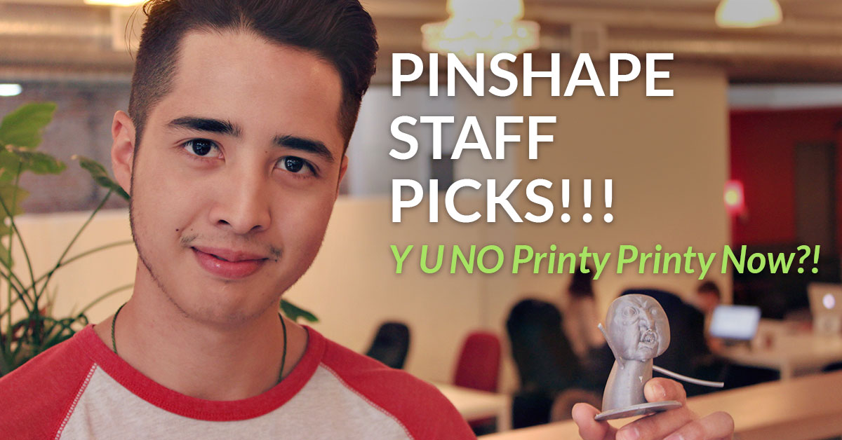 Awesome 3D printer designs this week on Pinshape!