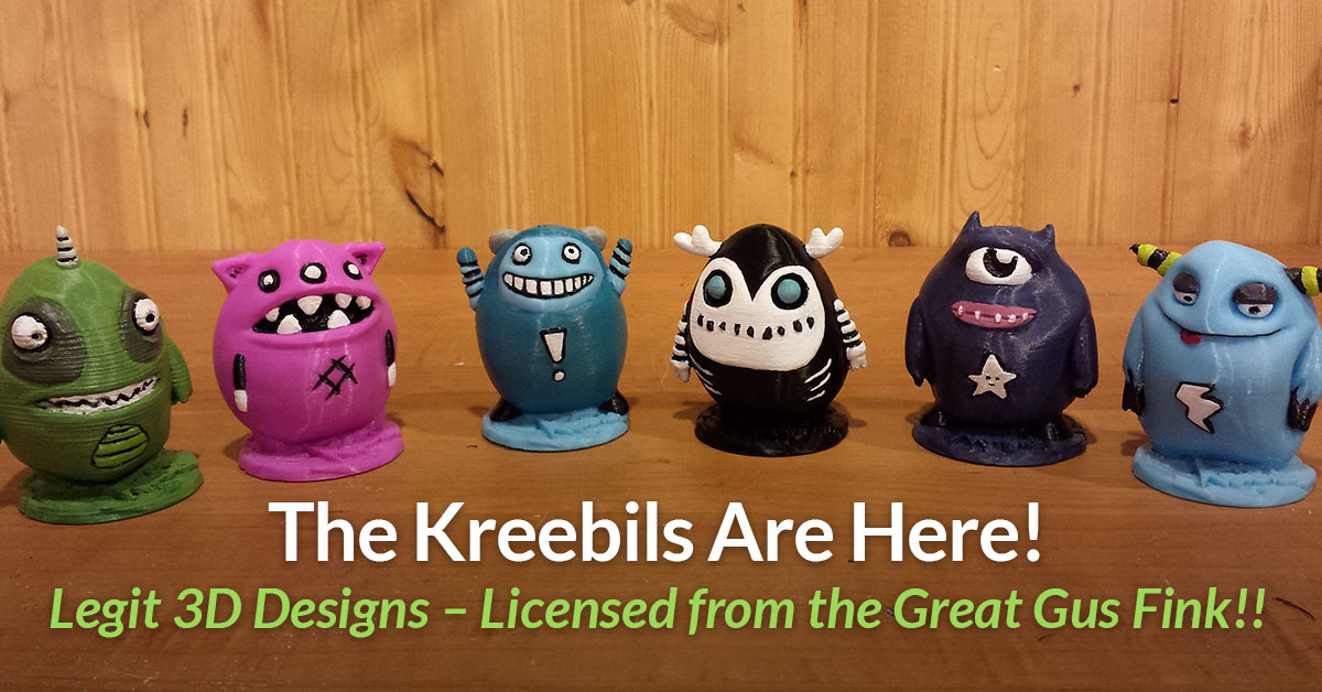 Exclusive Licensed 3D Models Now on Pinshape – Kreebils