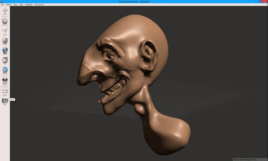 Meshmixer sculptris export
