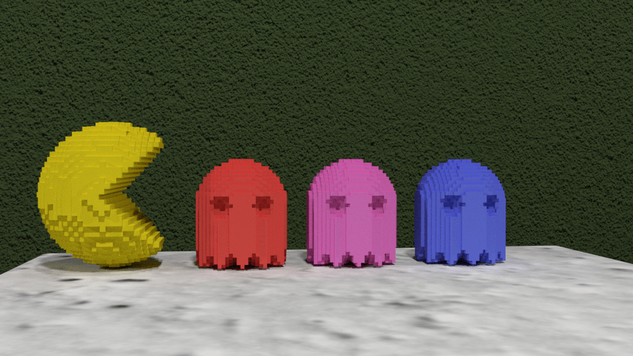 3D printing designs Pac-Man Pinshape 3D Printing