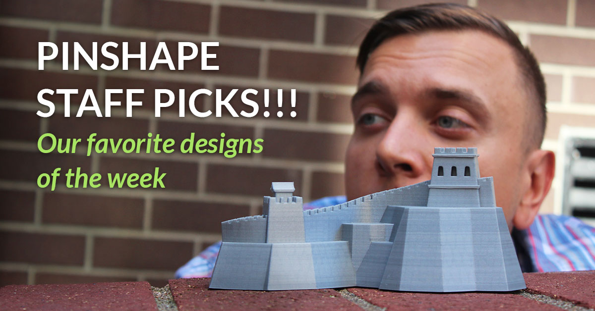 Our Top 3D printing designs on Pinshape – September 11, 2015