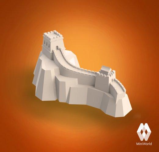 3D printing designs Great Wall of China Pinshape