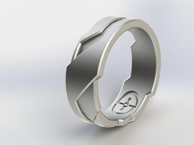 3D printing designs Halo Tron Inspired Ring Pinshape