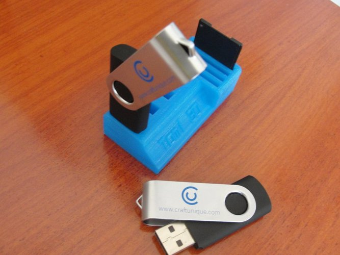 USB and SD Card Holder Pinshape