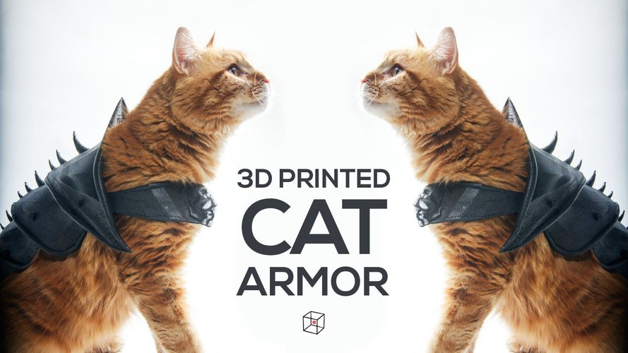 3D printer designs cat armor