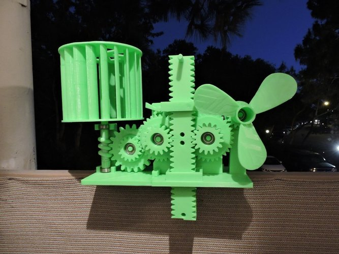 3D printer designs wind energy