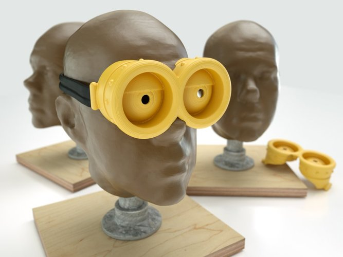 spookiest 3d designs Minion Goggles