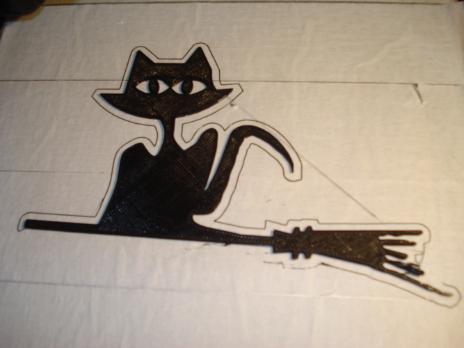 spookiest 3d designs scary cat on broom