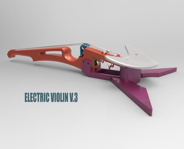 Best 3D designs pinshape electric violin