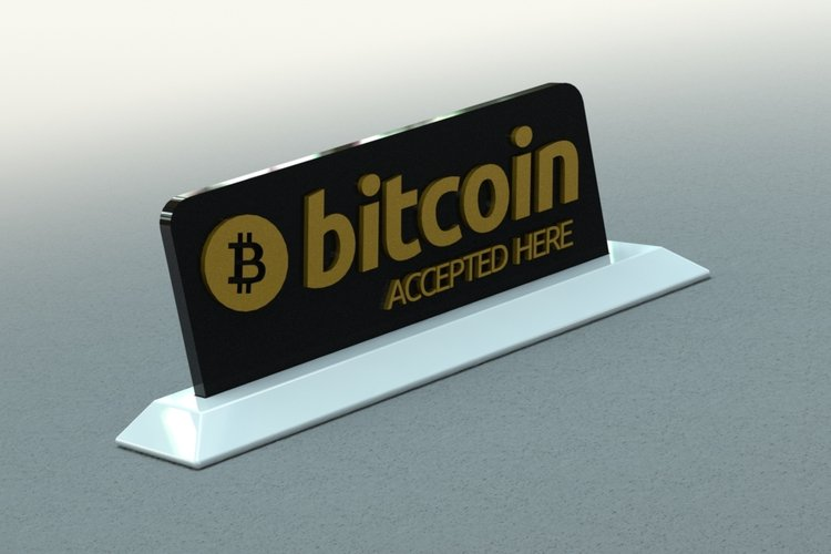 Best 3D designs pinshape bitcoin sign