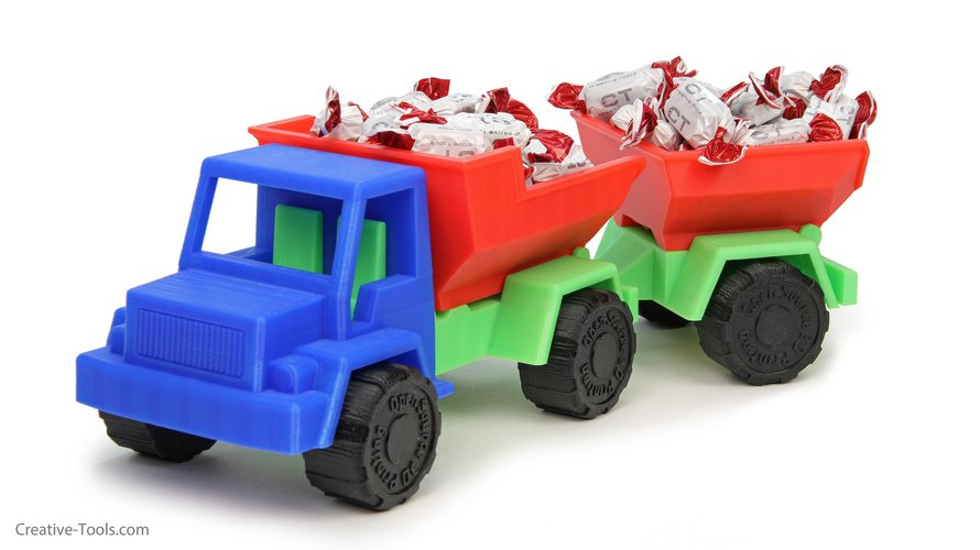 Things to 3D print dump truck trailer