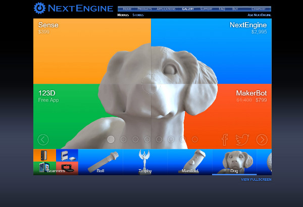 Best 3D scanners NextEngine