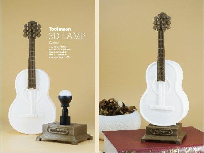 3D printable files guitar lamp