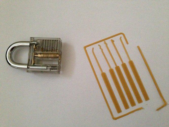 3D printable files lock pick