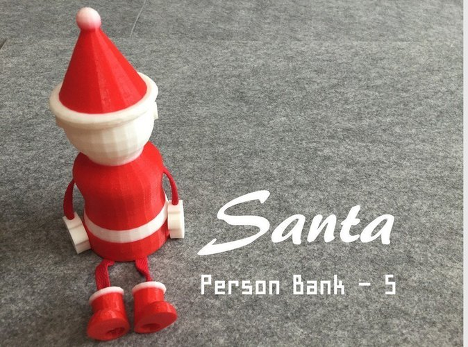 3d christmas design santa piggy bank