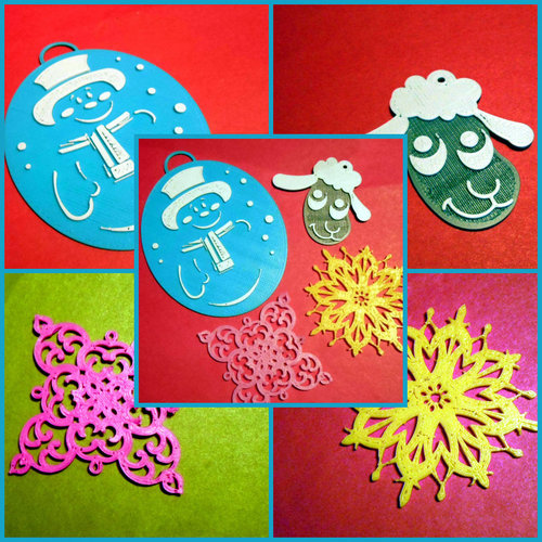 3d christmas design ornaments