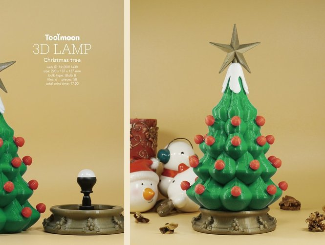 3d christmas design tree lamp