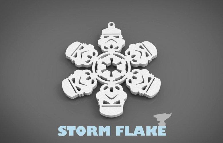3d christmas design stormtrooper snowflake