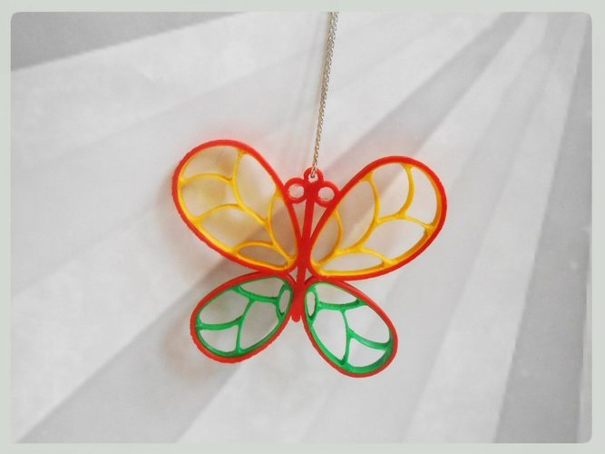 3D printable designs  butterfly design