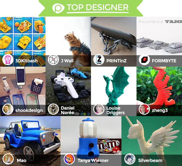 2015 Pinshape Awards top designer