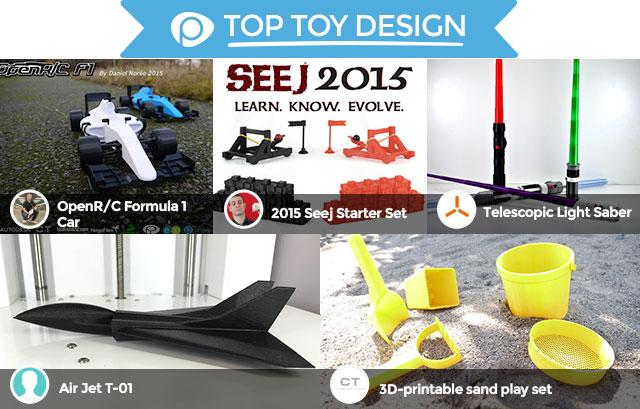 2015 Pinshape Awards top toy design