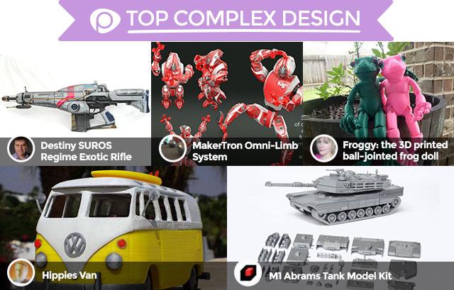 2015 Pinshape Awards top complex design