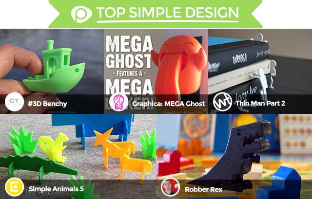 2015 Pinshape Awards top simple design