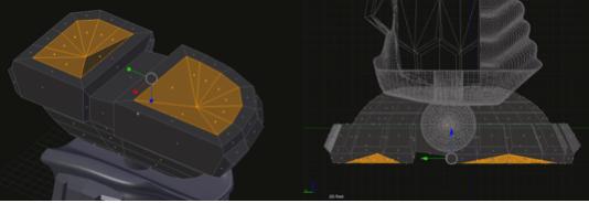 3d robot concave flat surface