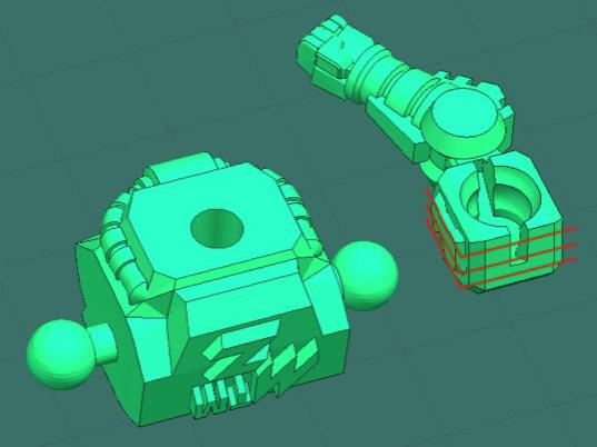 3d robot angling