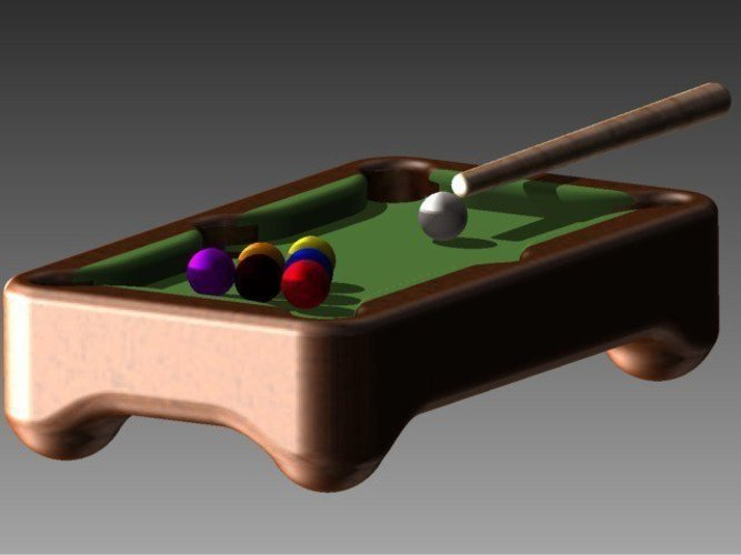 3D designs mini pool table