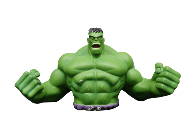 Interesting 3D designs hulk piggy bank