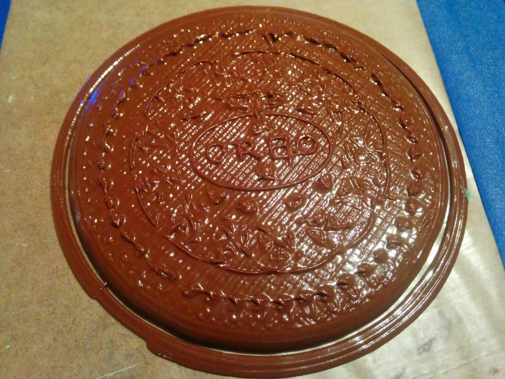 3d print silicone nutella cake