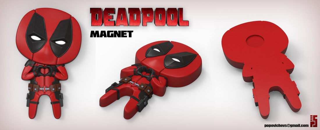 deadpool feel the love 3d printable designs
