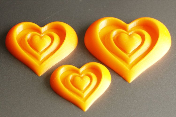 synger of love heart motif 3d printing designs