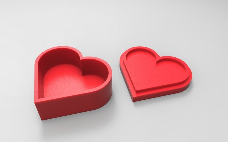 heart jewelry box 3d printing designs